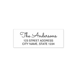 Modern Script Family Address Self-inking Stamp