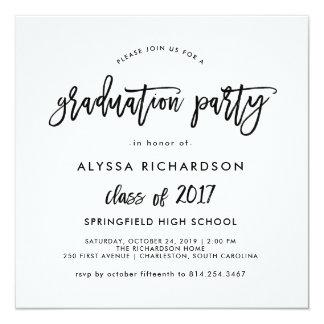Modern Script | Graduation Party Invitation