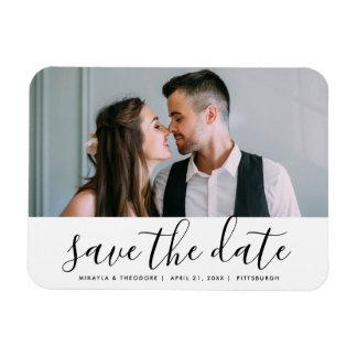 Modern Script Save the Date Wedding Photo Magnet