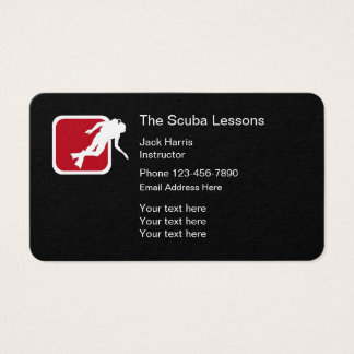 Modern Scuba Lessons Business Card
