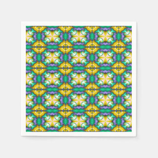 Modern Seamless Abstract Green Pattern Paper Napkins