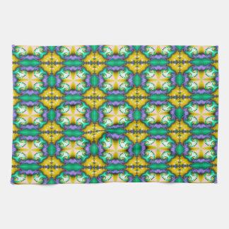 Modern Seamless Abstract Green Pattern Tea Towel