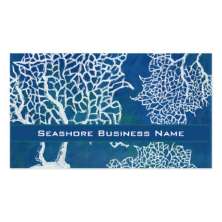 Modern Seashore Beach Ocean Coral Water Business Business Cards