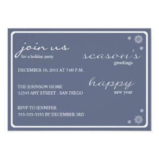 Modern Season's Greetings Party Invitation-navy 13 Cm X 18 Cm Invitation Card