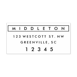 Modern self-inking return address stamp