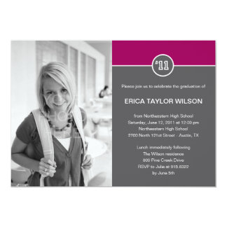 Modern Senior Graduation Announcement/Invitation Personalized Invite