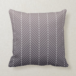 Modern Shaded Purple Herringbone Chevron Zig Zags Cushion