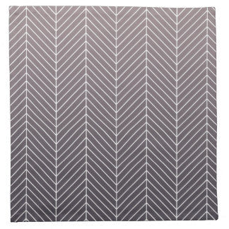 Modern Shaded Purple Herringbone Chevron Zig Zags Napkin