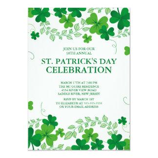 Modern Shamrock St. Patrick's Party Invitation