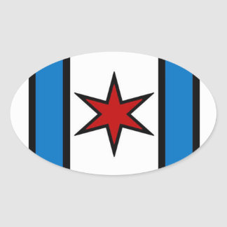 Modern shield oval sticker