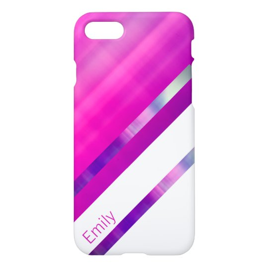 Modern Shiny Pink Design iPhone 8/7 Case