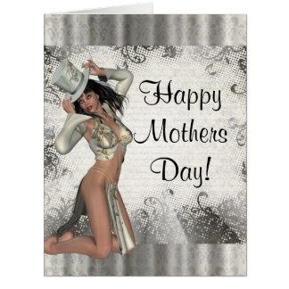 Modern showgirl mothers day big greeting card
