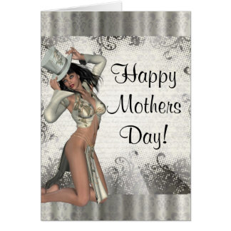 Modern showgirl mothers day card
