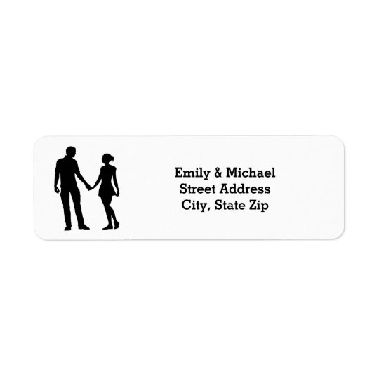 Modern Silhouette Couple - Address Labels