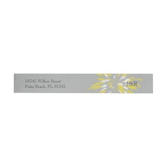 Modern Silver Buttercup Wedding Wrap Around Label Wraparound Return Address Label