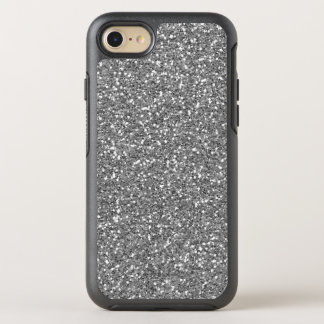 Modern Silver Glitter Sparkles Background Elegant OtterBox Symmetry iPhone 7 Case