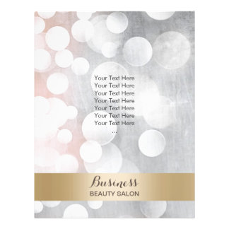 Modern Silver & Gold Beauty Salon Brochures 21.5 Cm X 28 Cm Flyer
