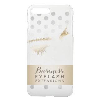 Modern Silver & Gold Eyelash Extensions iPhone 8 Plus/7 Plus Case
