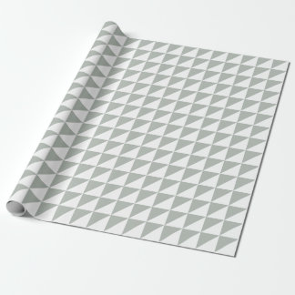 Modern Silver Gray Triangles Wrapping Paper