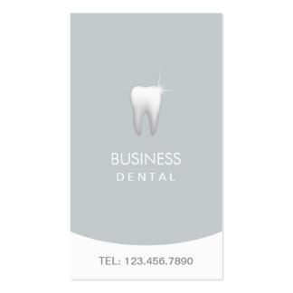 Modern Silver Professional Dental Appointment Pack Of Standard Business Cards