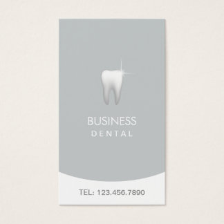 Modern Silver Professional Dental Appointment Business Card