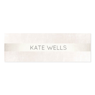 Modern Silver Stripe White Marble Professional Pack Of Skinny Business Cards