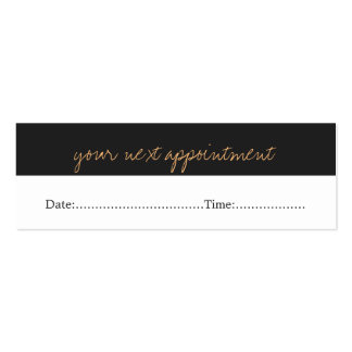 Modern Simple Beauty Salon Appointment Card Pack Of Skinny Business Cards