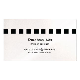 Modern Simple Black Squares Business Card