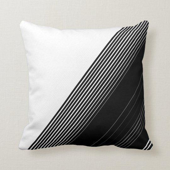Modern Simple Black Stripes and White Colour Block