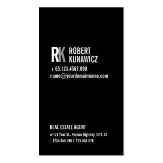 Modern Simple Black White Card Business Card Template