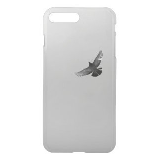 Modern simple black white flying bird pigeon photo iPhone 7 plus case