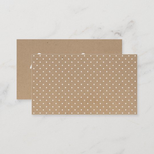 Modern simple brown craft paper polka dots pattern business card modern simple brown craft paper polka dots pattern business card reheart Image collections