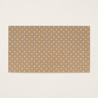 Modern simple brown craft paper polka dots pattern business card