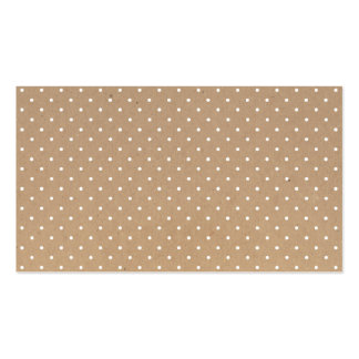 Modern simple brown craft paper polka dots pattern pack of standard business cards