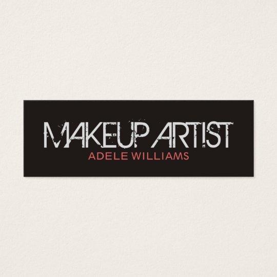 Modern Simple Chic Grey Pale Pink Makeup Artist