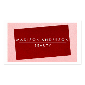 Modern Simple & Classic Beauty Pink & Red Pack Of Standard Business Cards