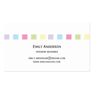 Modern Simple Color Squares Business Card