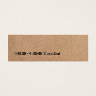 Modern Simple Cool Kraft Paper Consultant Mini Business Card