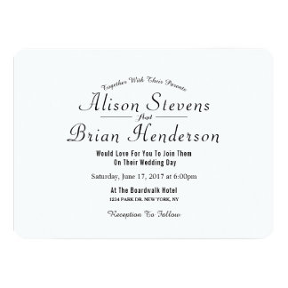 Modern simple elegant wedding invitation
