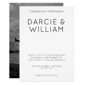 Modern Simple Elegant Wedding Personalized Photo Card
