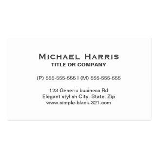 Modern simple elegant white grey business card