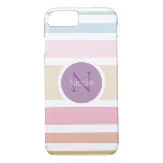 modern simple fine pastel colors iPhone 7 case