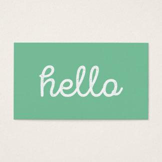 Modern simple green hello script graphic designer