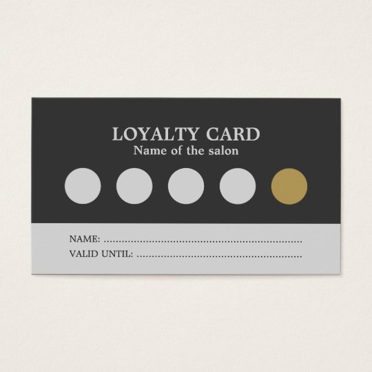 Modern Simple Grey Silver Salon Loyalty Card