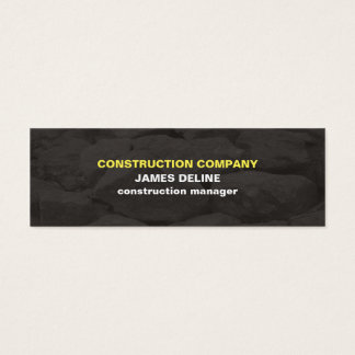 Modern Simple Grey Stones Construction Mini Business Card