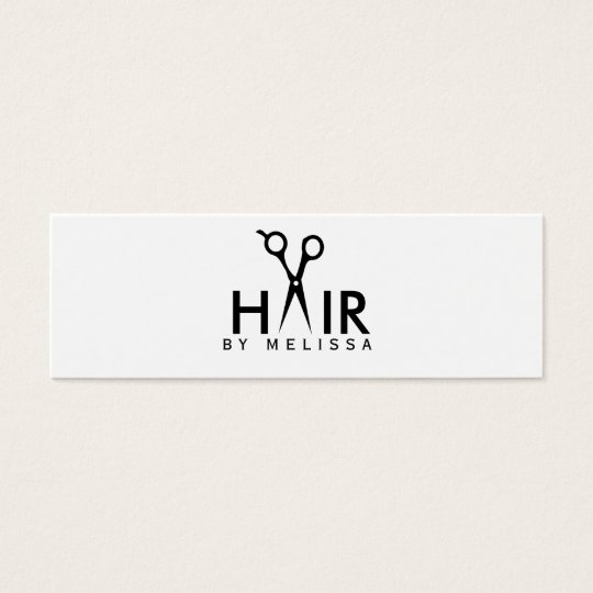 modern simple hairstylist hair stylist salon cheap mini business card