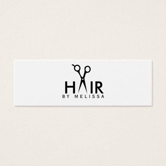 modern simple hairstylist hair stylist salon cheap mini business card