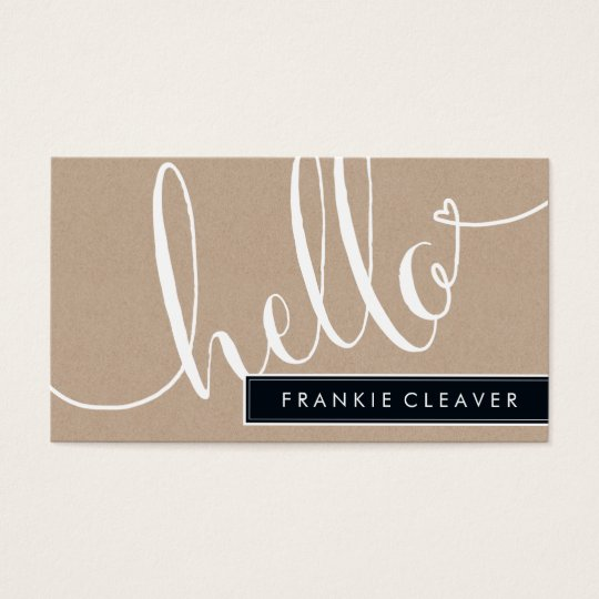 MODERN SIMPLE hello script trendy type kraft Business