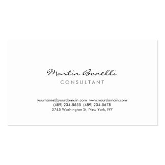 Modern Simple Minimal Consultant Business Card Pack Of Standard Business Cards