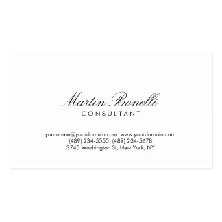 Modern Simple Minimalist Calligraphy Business Card